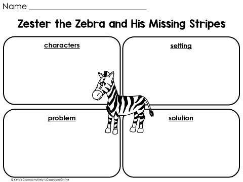 Learn about story elements and friendship with Zester the Zebra and His Missing Stripes written by Christen Conrad. Lesson includes a fun zebra craft.