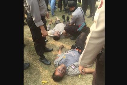 Polisi Tumbang Akibat Terinjak-injak saat Unjuk Rasa di Kantor Gubernur Riau