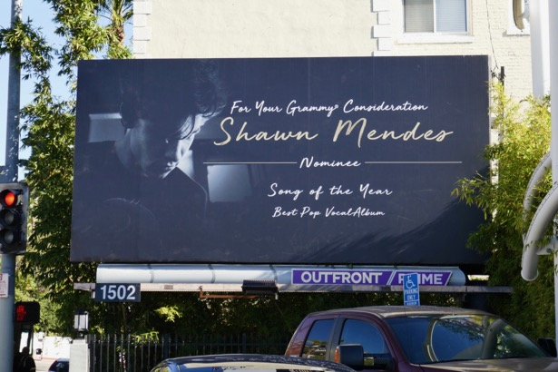 Shawn Mendes Grammy consideration billboard