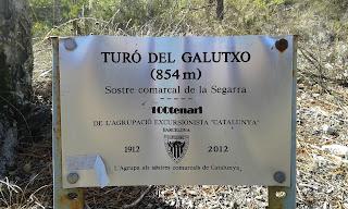 Turó del Galutxo (854 m) - Sostre comarcal Segarra