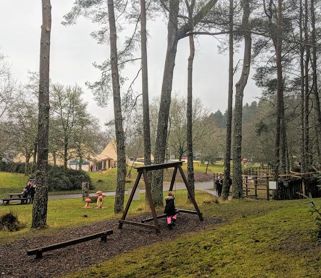 Play area at Kielder Winter Wonderland