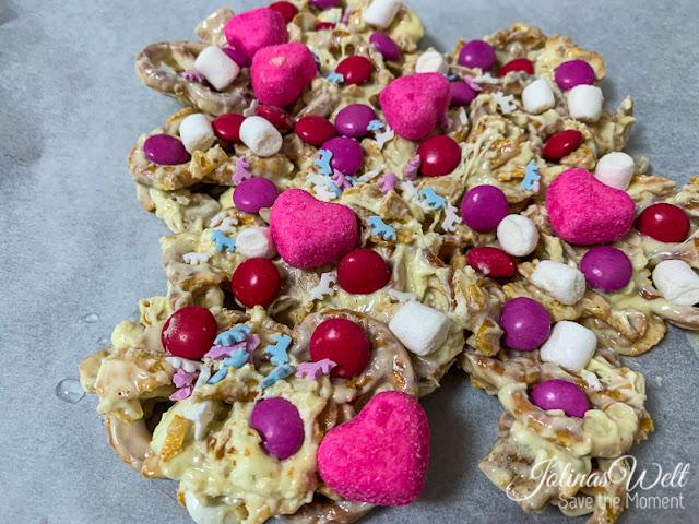 Herz rosa Crunch Rezept