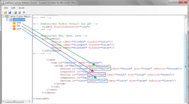Selain memakai imageMso bawaan dari Microsoft Office Excel untuk menciptakan Ribbon sendi Cara Membuat imageMso dengan gambar sendiri