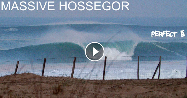 MASSIVE HOSSEGOR PERFECT FRENCH TUBES PUMPED SINCE THE RECENT STORM UNLOADING ON A PERFECT BANK