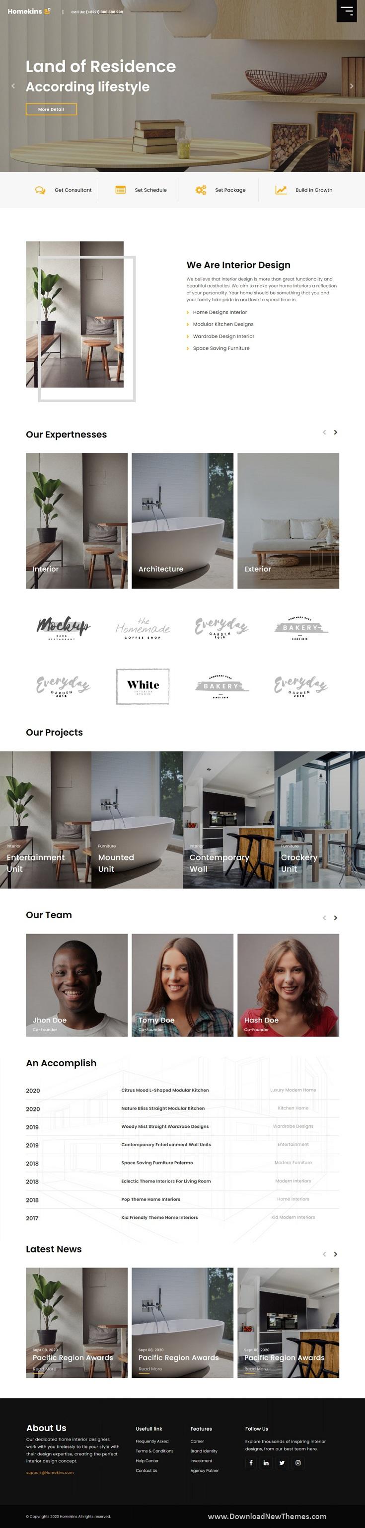 Interactive Interior Website Template