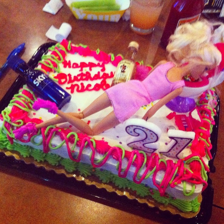 St Birthday Cake Barbie Throwing Up
