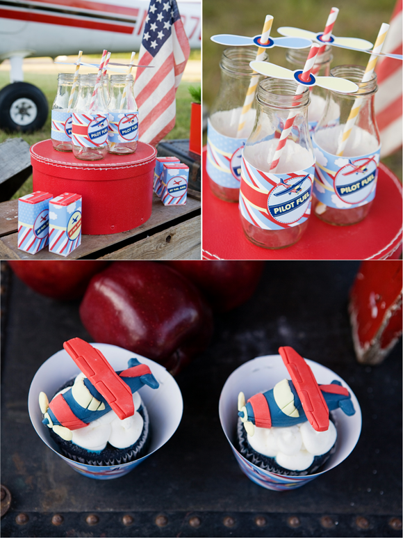 Little Aviator Airplane Inspired Birthday Party Ideas and Desserts Table