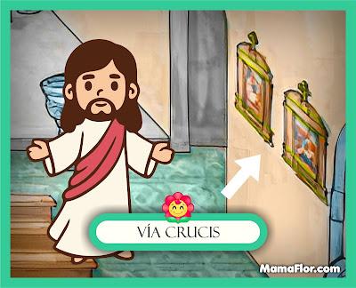 Vía Crucis — Partes del Templo