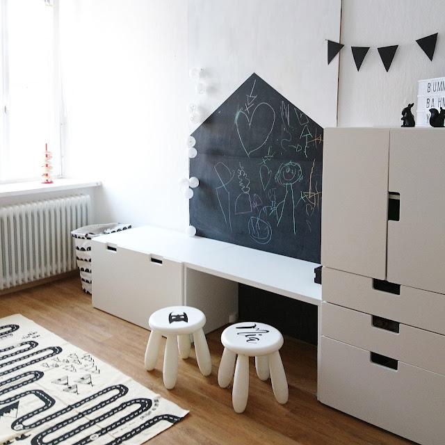Kinderzimmer Inspiration - Kidsroom - schwarz weiß - whatalovelyay
