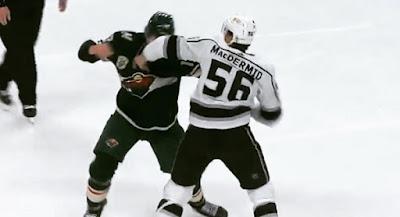 foligno macdermid fight nhl hockey