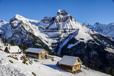 Mountains and cabins
