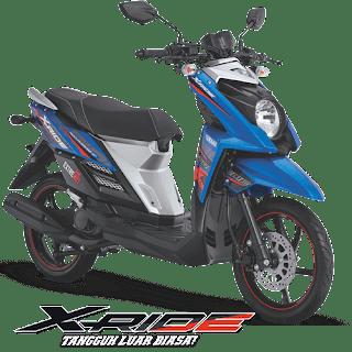 Harga Kredit Motor Yamaha X-Ride terbaru untuk wilayah Jakarta, Tangerang, Depok, Bekasi dan Bogor. Proses cepat syarat mudah serta banyak bonus nya