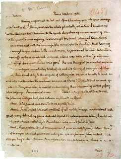 Jefferson ☞ Cosway letter, page 1