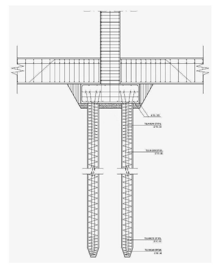 Detail Pondasi Telapak Dwg : detail, pondasi, telapak, Detail, Pondasi, Konstruksi, Sipil