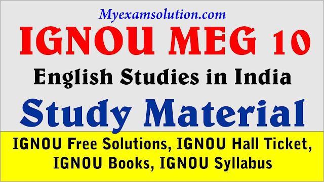 IGNOU meg study material; ignou meg 10, ignou meg 10 study material