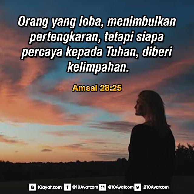 Amsal 28:25