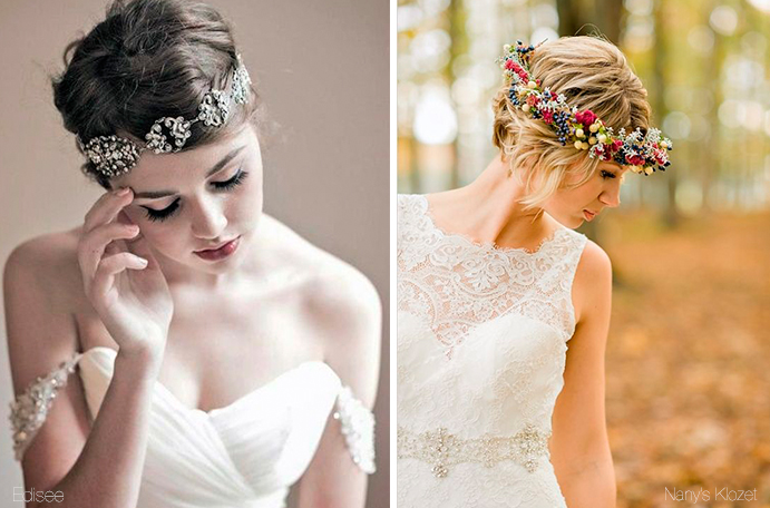 El Blog de Trocitos de Boda  6 Looks geniales para novias con pelo corto 09acad06a1aa