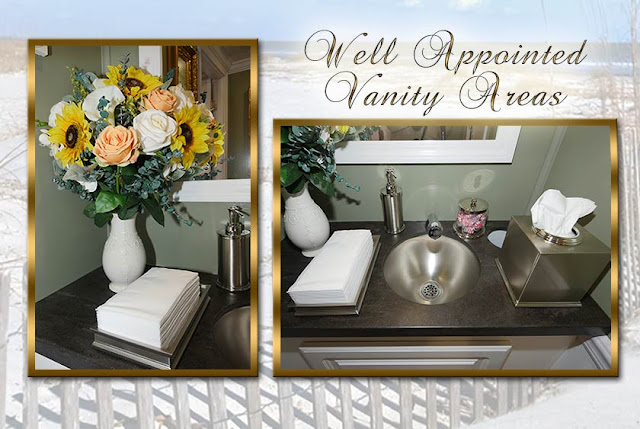 Well Appointed Vanity Areas