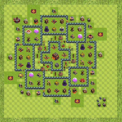 War Base Town Hall Level 10 By Kevin Stephens (Bigkev00 TH 10 Layout)