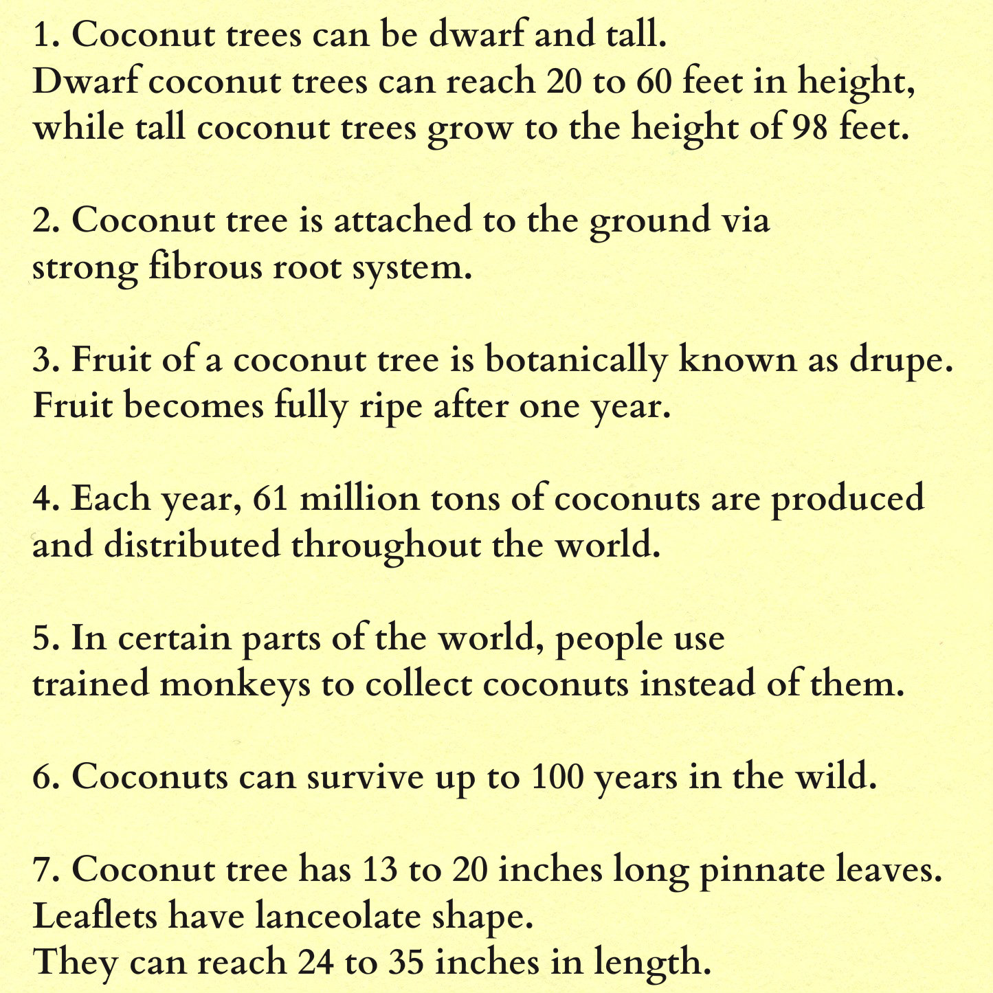 Coconut Bfacts on Uses Of Coconut Tree Parts