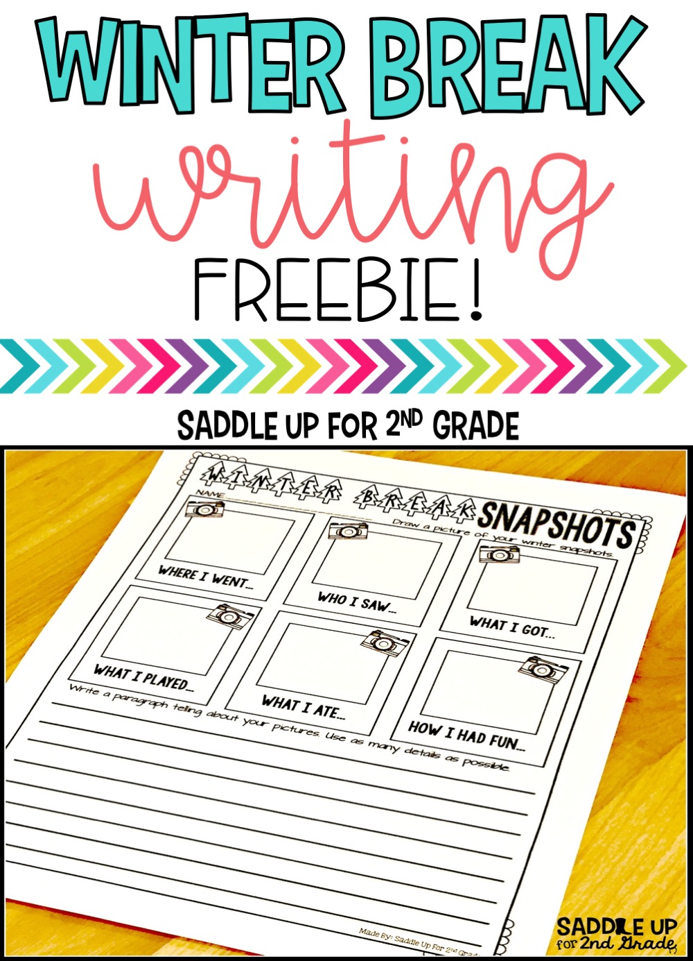 Grab this FREE Winter Break writing activity to use with your class when they return from Christmas break. It is perfect to use during the month of January.