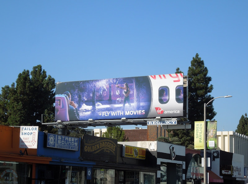 Fly movies Virgin America billboard
