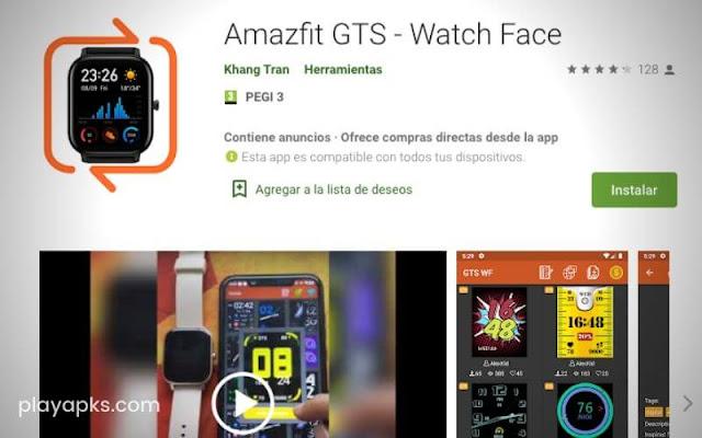 Descargar en Amazfit GTS - Watch Face para android