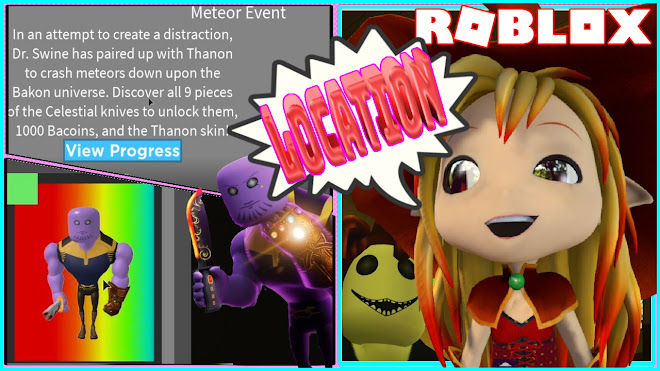 Roblox Bakon [EVENT]! CODE! Location of all the 9 Celestial Knife in all Maps!