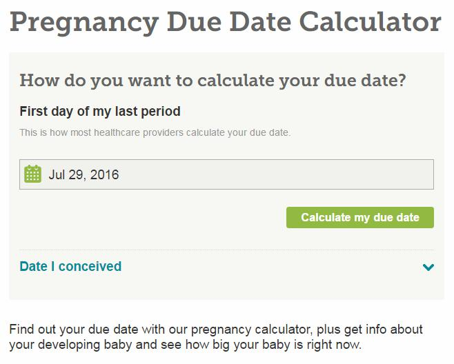 Pregnancy Due Date Calculator With Weeks Detail   HOW CAN DONE