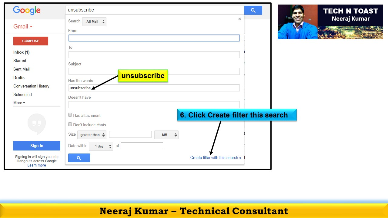 Search All Mail in Gmail