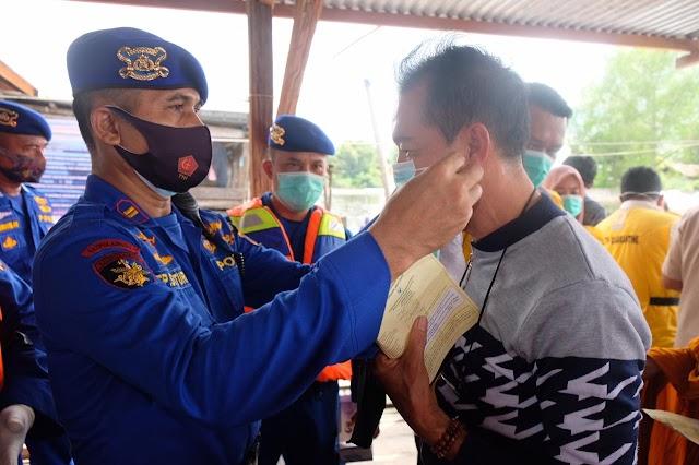 Satpolair Polres Tanjung Balai Gelar Ops Lilin Toba 2020 di Perairan Tanjung Balai Sambut Natal Dan Tahun Baru