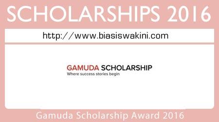 Gamuda Scholarship Award 2016
