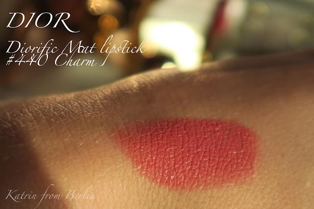 swatch Dior Diorific Mat lipstick Charm