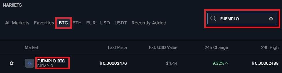 Mercado de Cambio en BITTREX NXT / BITCOIN
