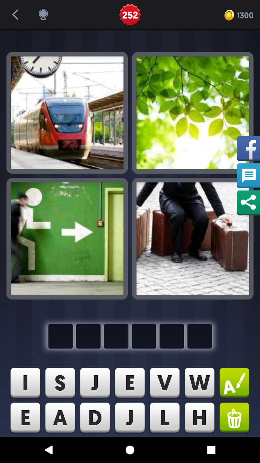 4 pics 1 word answers solutions level 252 leaves keyword 6 letter word trains tree motivate baggage push leaves expocarfo Images