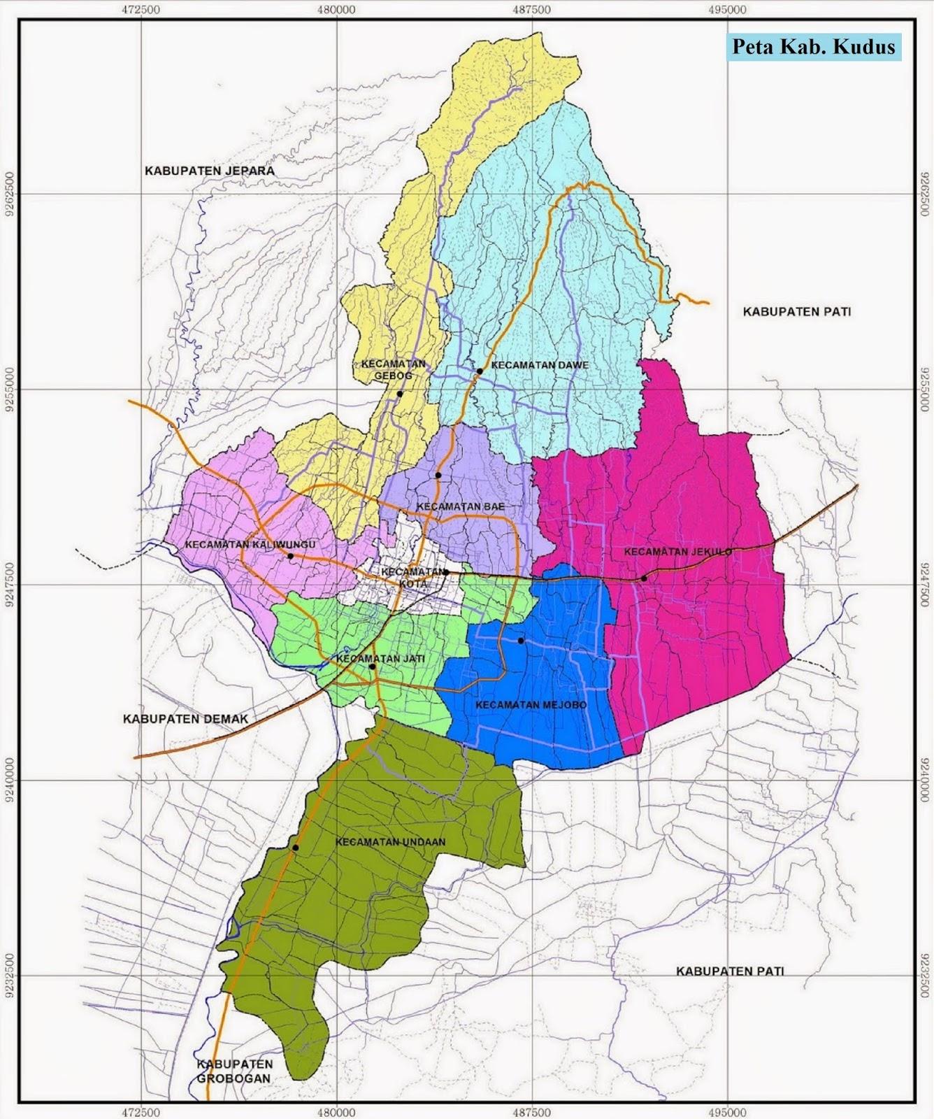 Peta Kabupaten Kudus
