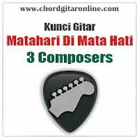 Chord Kunci Gitar 3 Composers Matahari Di Mata Hati