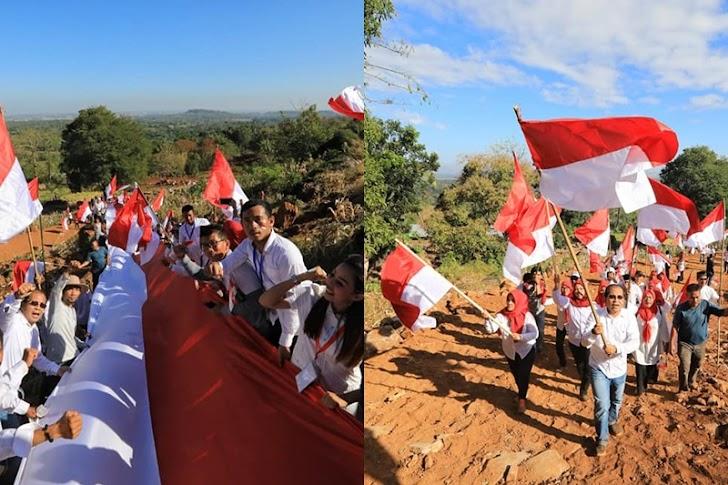 Danny Bersama 1500 Relawan Dirgahayu Kemerdekaan Republik Indonesia Ke-74