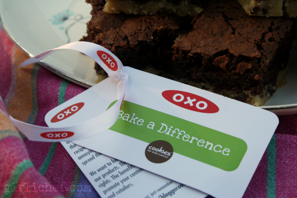 Chocolate Chip Shortbread Brownies {#OXOGoodBrownie} | www.girlichef.com