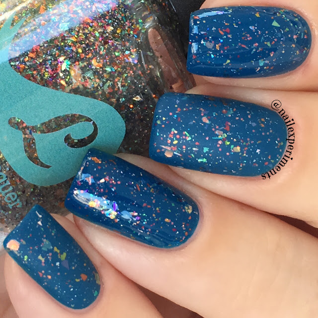 Bluebird lacquer rainbroversity leaves out sleeves out swatch