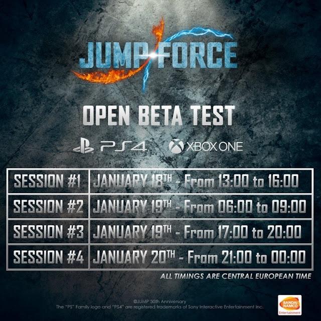 الإعلان رسميا عن مرحلة البيتا للعبة Jump Force ، إليكم المواعيد و محتواها الكامل