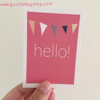 mini kaartje HELLO