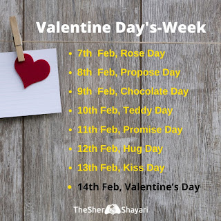 2020 Valentine Days Week List images photo Valentine Days Week List  2020 download