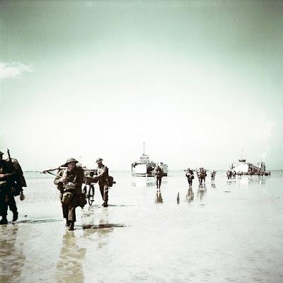 Fotografías a color del Día D - Desembarco de Normandía