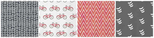 fabric mood board, fabric choices from minted, how to update a room, reupholstering furniture, Hand Drawn, Bicycle, Watercolor Chevron, Playful Chevron
