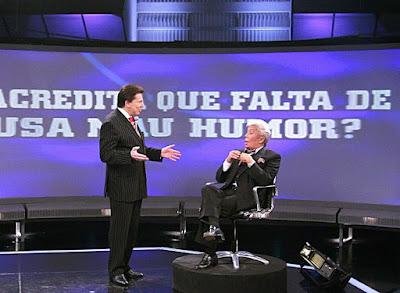 Silvio e Clodovil (Foto Roberto Nemanis/SBT)