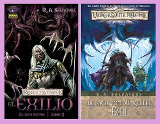 portadas de la novela gráfica El exilio