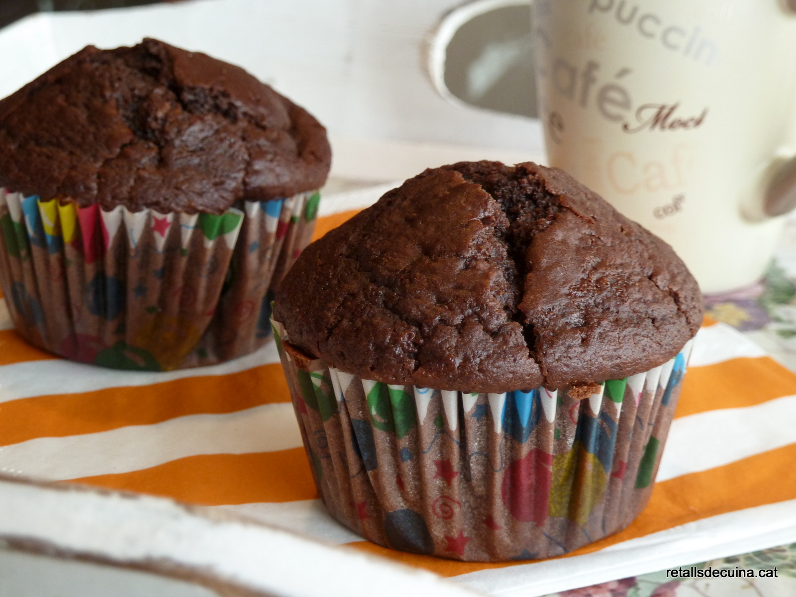 Muffins de dues xocolates