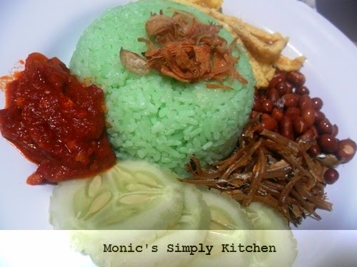 Nasi Lemak Pandan Dengan Rice Cooker Monic S Simply Kitchen
