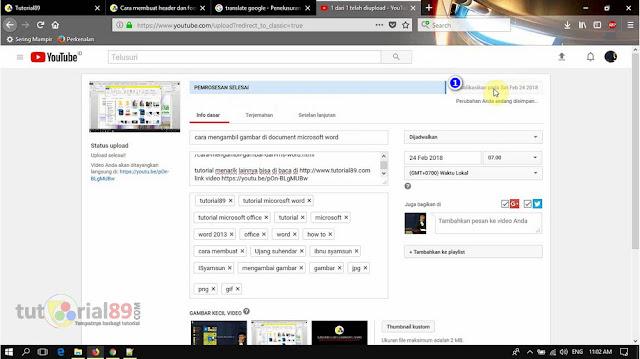 Cara mudah menjadwalkan video youtube sesuai keinginan